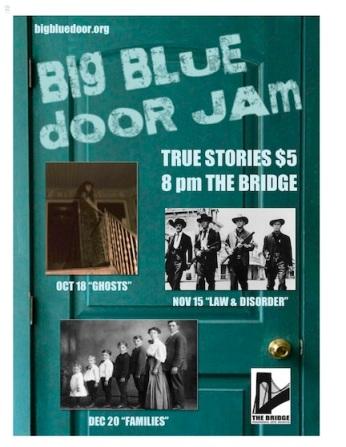 bridge blue door jam