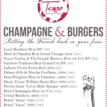 2.19, champagne and burgers tempo