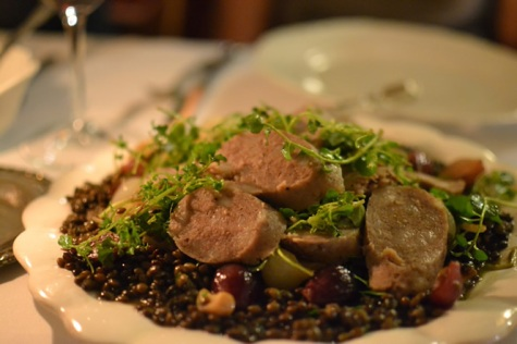 sausage and lentils dish