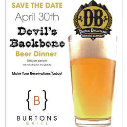 devils backbone beer dinner
