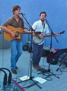 Luke Wilson and Stan Marshall at Second Street Gallery's Brews with a View