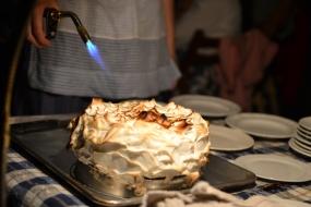dessert close
