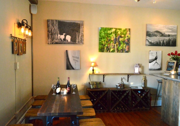 The ladies of 22BRIX searched for and finally found the perfect table that brings a sense of community for those enjoying Ankida wines in the cozy wine room.