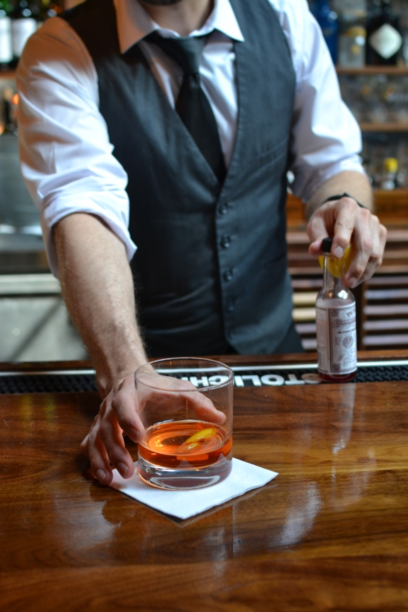 bartender alley light, © Cville Niche