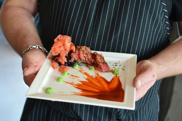 tuna with chef