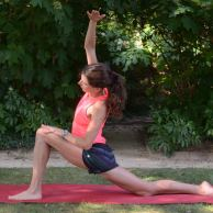 Low lunge/side stretch (continued)