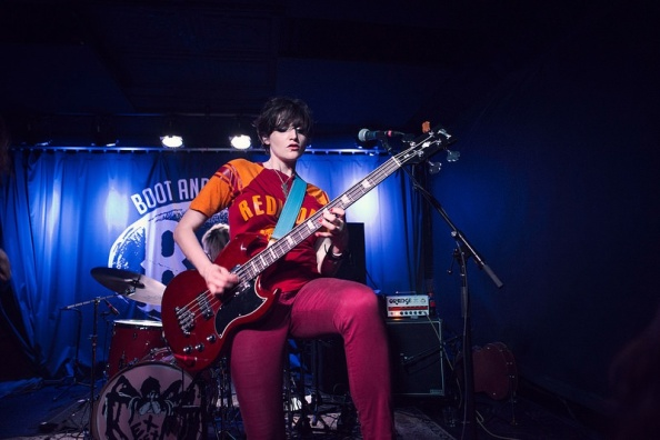 Betsy Wright plays with Ex  Hex at Boot & Saddle Photo by Scott Troyan