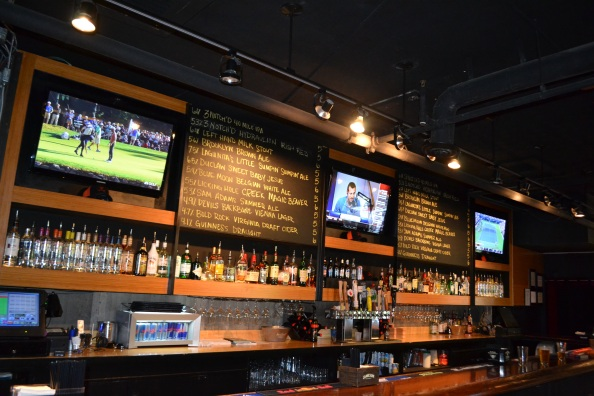 Poe's Public House offers several draft beers, including a vast selection from local breweries.