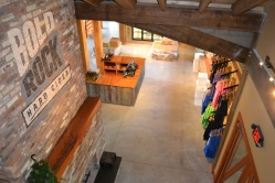 The cider barn features a gift shop