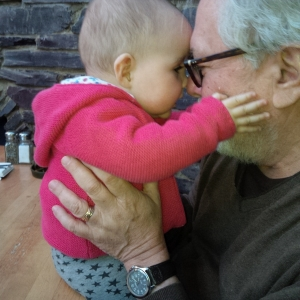 Harry Chotiner with his granddaughter.