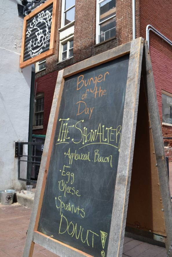 Jack Brown's Beer & Burger Joint is slinging brews and food downtwon, including its popular Showalter burger.