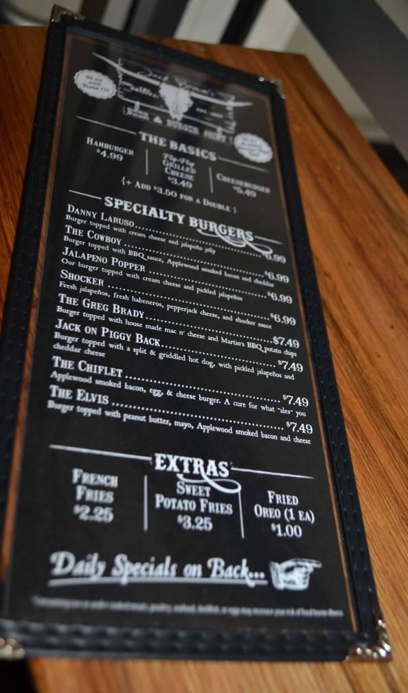 Jack Brown's Beer & Burger Joint menu